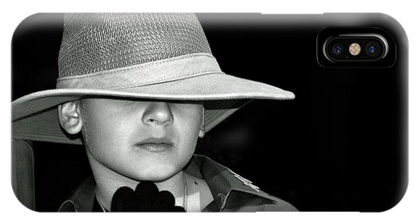 Portrait Of A Boy With A Hat IPhone Case