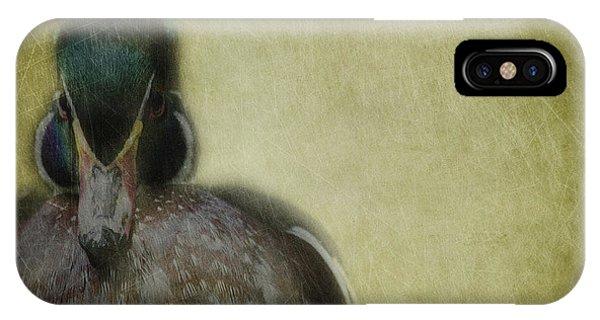 Mallard iPhone Case - Portrait Of A Duck by Rebecca Cozart