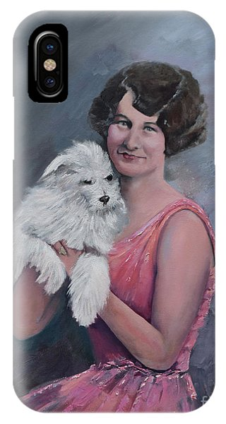 Maggie And Caruso -portrait Of A Flapper Girl IPhone Case