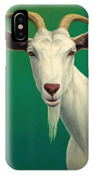 Wildlife iPhone Case - Portrait Of A Goat by James W Johnson