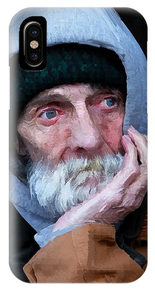Portrait Of A Homeless Man IPhone Case