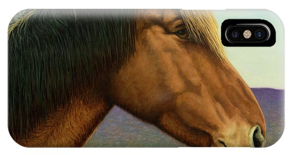 Ranch iPhone Case - Portrait Of A Horse by James W Johnson