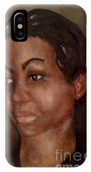 Portrait Of A Life Drawing Phone Case by Simonne Mina