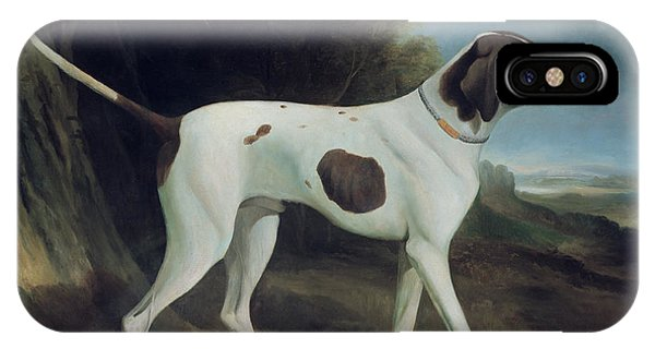 Scent iPhone Case - Portrait Of A Liver And White Pointer by George Garrard