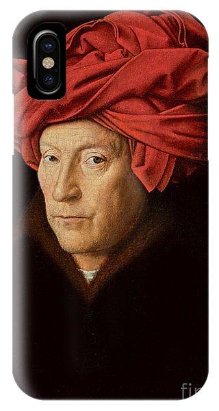 Coat iPhone Case - Portrait Of A Man by Jan Van Eyck