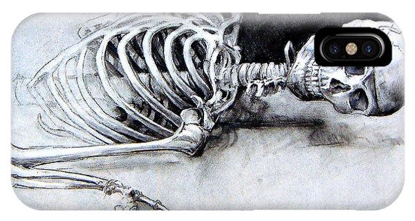 Portrait Of A Skeleton IPhone Case