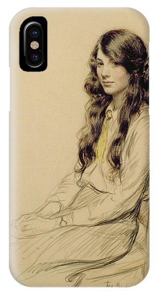 People iPhone Case - Portrait Of A Young Girl by Frederick Pegram