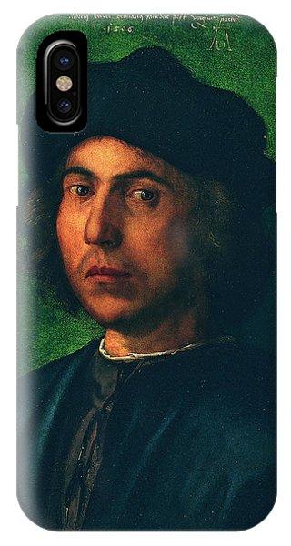 Albrecht Durer iPhone Case - Portrait Of A Young Man by Albrecht Durer