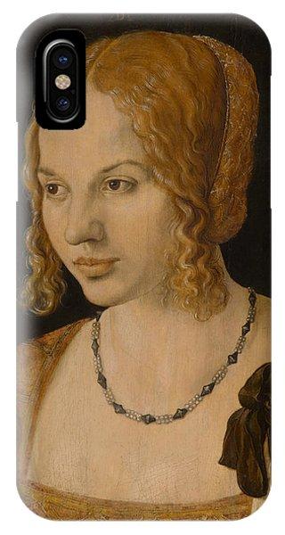 Albrecht Durer iPhone Case - Portrait Of A Young Venetian Woman by Albrecht Durer