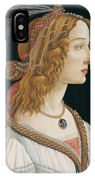 Botticelli iPhone Case - Portrait Of A Young Woman by Botticelli