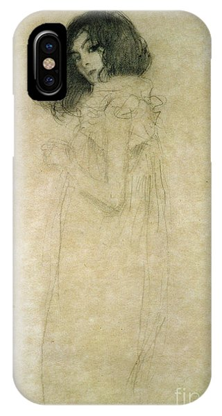 1862 iPhone Case - Portrait Of A Young Woman by Gustav Klimt