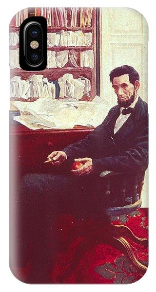 Portrait Of Abraham Lincoln IPhone Case