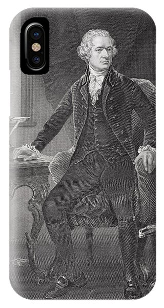 Interior iPhone Case - Portrait Of Alexander Hamilton by Alonzo Chappel
