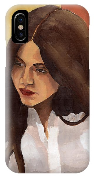 IPhone Case featuring the painting Portrait Of Amelia by Stephen Panoushek