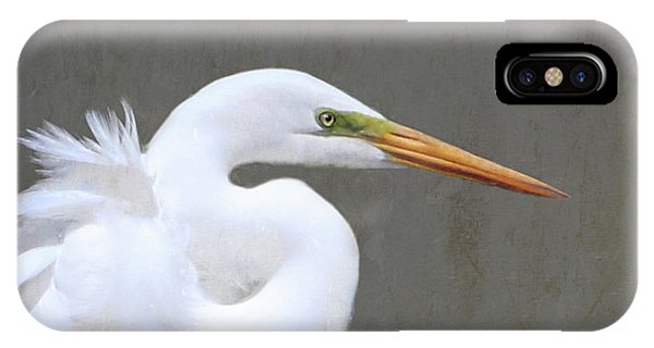 Portrait Of An Egret Signed IPhone Case