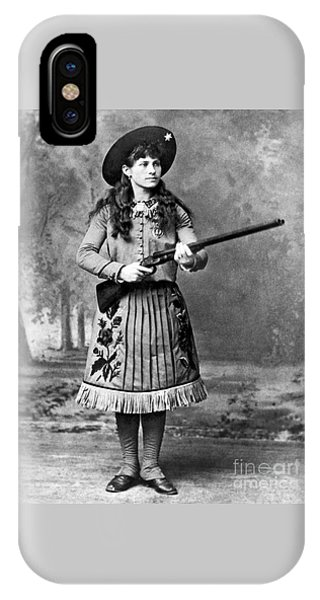 Portrait Of Annie Oakley IPhone Case