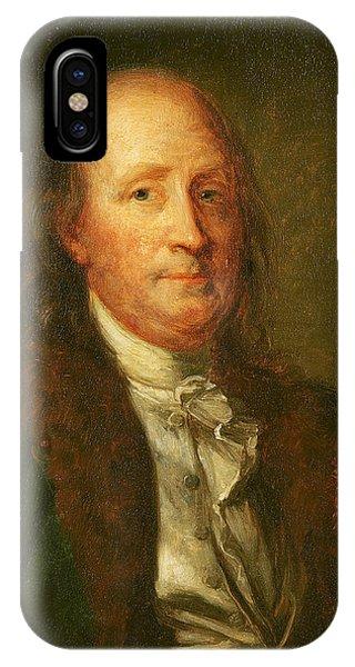 Portrait Of Benjamin Franklin IPhone Case
