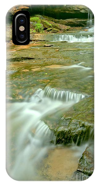 Somerset County iPhone Case - Portrait Of Cave Falls by Adam Jewell