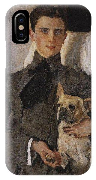iPhone Case - Portrait Of Count Felix Sumarokov - Elston Later Prince Yusupov With A Dog 1903 Valentin Serov by Eloisa Mannion