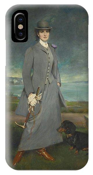 1877 iPhone Case - Portrait Of Countess De La Maitrie In Equestrian Dress by MotionAge Designs
