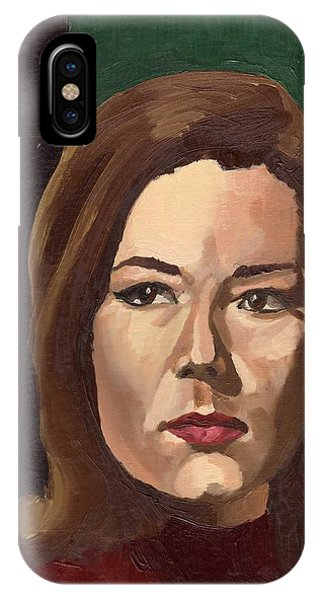 IPhone Case featuring the painting Portrait Of Diana  by Stephen Panoushek