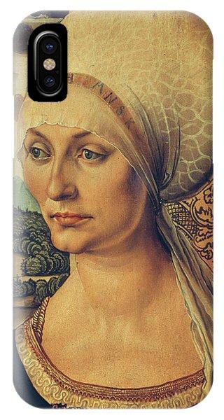 Albrecht Durer iPhone Case - Portrait Of Elisabeth Tucher by Albrecht Durer