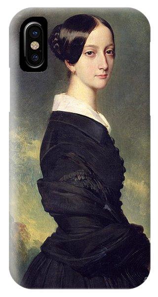 Portraits iPhone Case - Portrait Of Francisca Caroline De Braganca by Franz Xaver Winterhalter