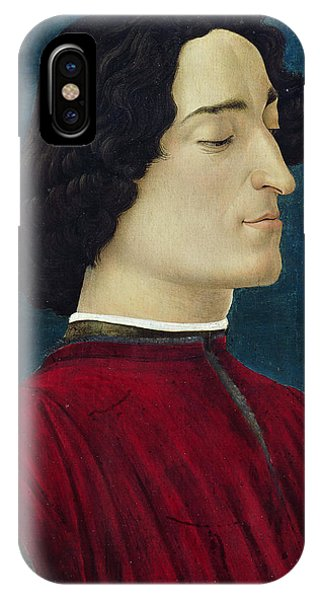 Botticelli iPhone Case - Portrait Of Giuliano De' Medici by Sandro Botticelli