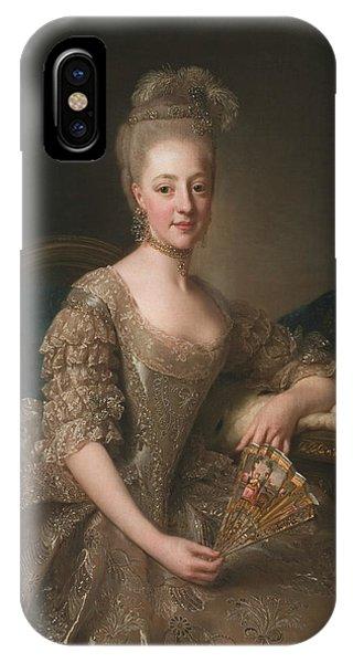 Swedish Painters iPhone Case - Portrait Of Hedwig Elizabeth Charlotte Of Holstein-gottorp  by Alexander Roslin