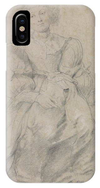Baroque iPhone Case - Portrait Of Helene Fourment by Peter Paul Rubens
