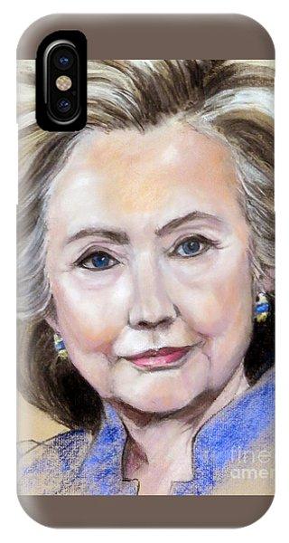 Pastel Portrait Of Hillary Clinton IPhone Case