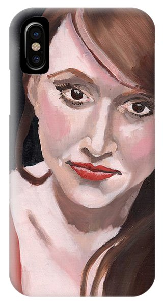 IPhone Case featuring the painting Portrait Of Howley by Stephen Panoushek