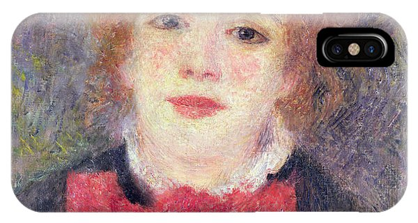 1877 iPhone Case - Portrait Of Jeanne Samary by Renoir