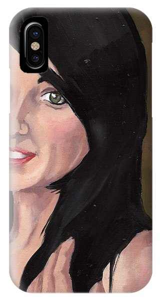 IPhone Case featuring the painting Portrait Of Jessa by Stephen Panoushek