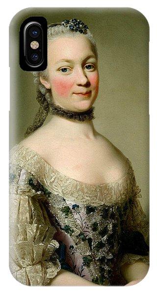 Swedish Painters iPhone Case - Portrait Of Katarzyny Z Zamoyskich Mniszchowej by Alexander Roslin