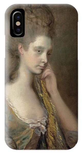 British Empire iPhone Case - Portrait Of Lady Anne Thistlethwaite, Countess Of Chesterfield  by Thomas Gainsborough