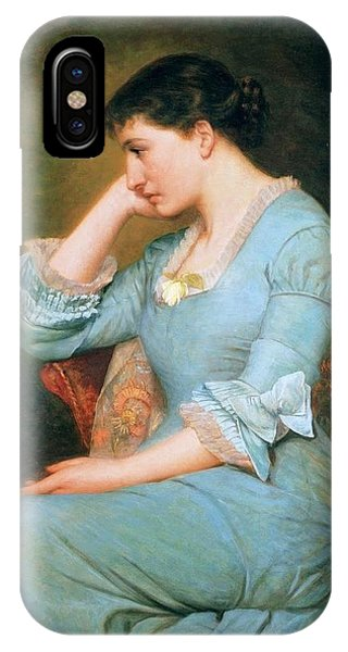 Lillie iPhone Case - Portrait Of Lillie Langtry  by MotionAge Designs