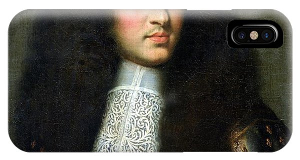 King Charles iPhone Case - Portrait Of Louis Xiv by Charles Le Brun