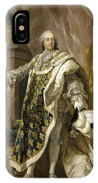 French Artist iPhone Case - Portrait Of Louis Xv Of France by Louis-Michel van Loo