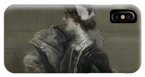 Portrait Of Mademoiselle Lina Cavalieri IPhone Case