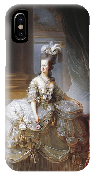 Plumes iPhone Case - Portrait Of Marie Antoinette by Elisabeth Louise Vigee-Lebrun