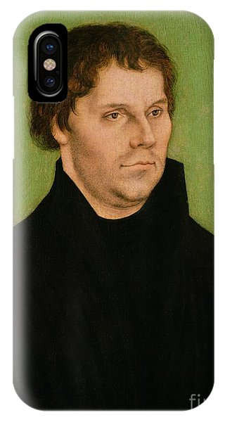 Lutheran iPhone Case - Portrait Of Martin Luther by Lucas Cranach the Elder