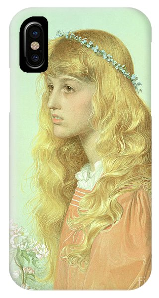 Adele iPhone Case - Portrait Of Miss Adele Donaldson, 1897 by Anthony Frederick Augustus Sandys