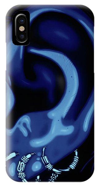 Portrait Of My Ear In Blue IPhone Case