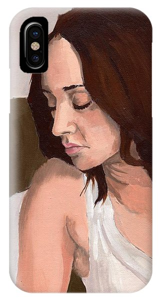 IPhone Case featuring the painting Portrait Of Nikitah by Stephen Panoushek