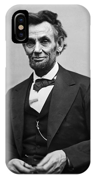 Men iPhone Case - Portrait Of President Abraham Lincoln by International  Images