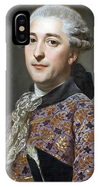 Swedish Painters iPhone Case - Portrait Of Prince Vladimir Golitsyn Borisovtj by Alexander Roslin