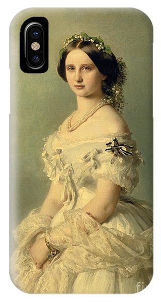 Portrait iPhone X Case - Portrait Of Princess Of Baden by Franz Xaver Winterhalter