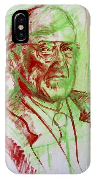 Portrait Of Prof Joshua Lederberg Phone Case by Yael Avi-Yonah