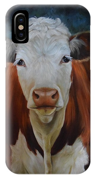 Portrait Of Sally The Cow IPhone Case